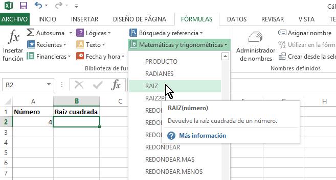 Cómo calcular la raíz cuadrada en Excel - TecniComo