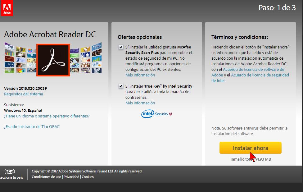 descargar e instalar acrobat reader pdf gratuito en español
